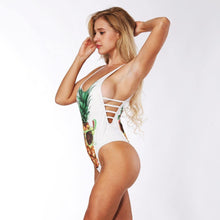 Load image into Gallery viewer, One Piece Push Up Pineapple Fruit 3D Print Swimwear-One-Piece Suits-Look Love Lust