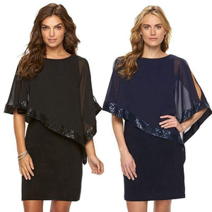 Chiffon Bell Sleeve Midi Dress-Dresses-Look Love Lust