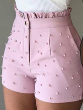 Load image into Gallery viewer, Beaded High Waisted Shorts-Shorts-Look Love Lust