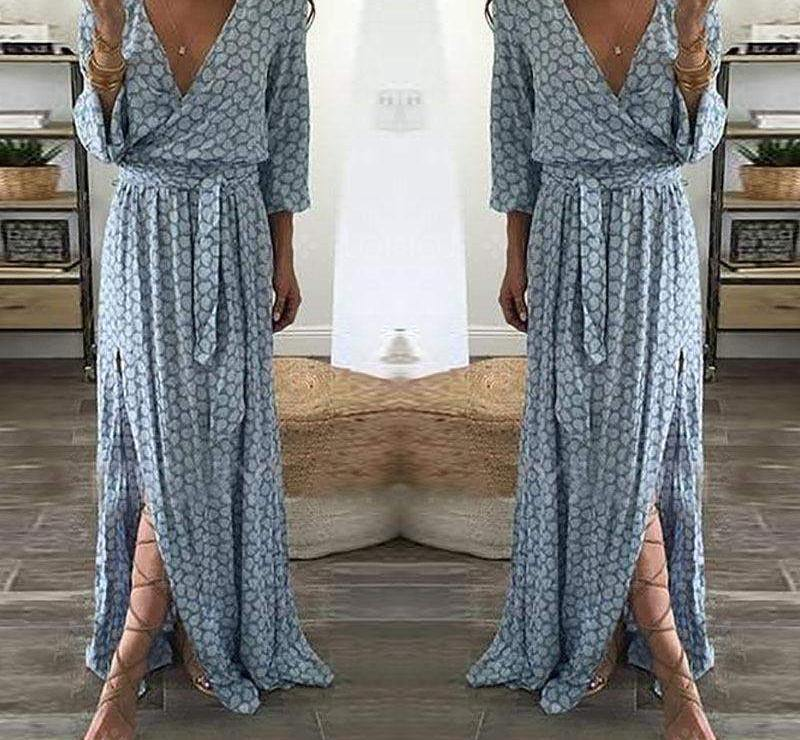 Tie-Front Maxi Dress-Dresses-Look Love Lust