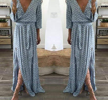 Load image into Gallery viewer, Tie-Front Maxi Dress-Dresses-Look Love Lust