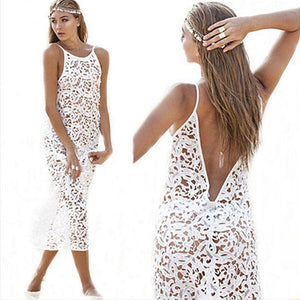 Demi Crochet Lace Bikini Tunic Dress - Cover-Ups -  Look Love Lust