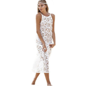 Demi Crochet Lace Bikini Tunic Dress-Cover-Ups-Look Love Lust