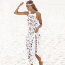 Load image into Gallery viewer, Demi Crochet Lace Bikini Tunic Dress-Cover-Ups-Look Love Lust