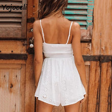 Load image into Gallery viewer, Eyelet Embroidered Romper-Rompers-Look Love Lust