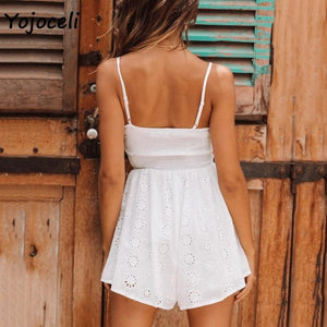 Eyelet Embroidered Romper-Rompers-Look Love Lust