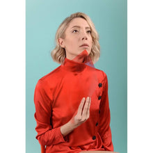 Load image into Gallery viewer, Red Turtleneck Maxi Dress-Women - Apparel - Dresses - Day to Night-Look Love Lust