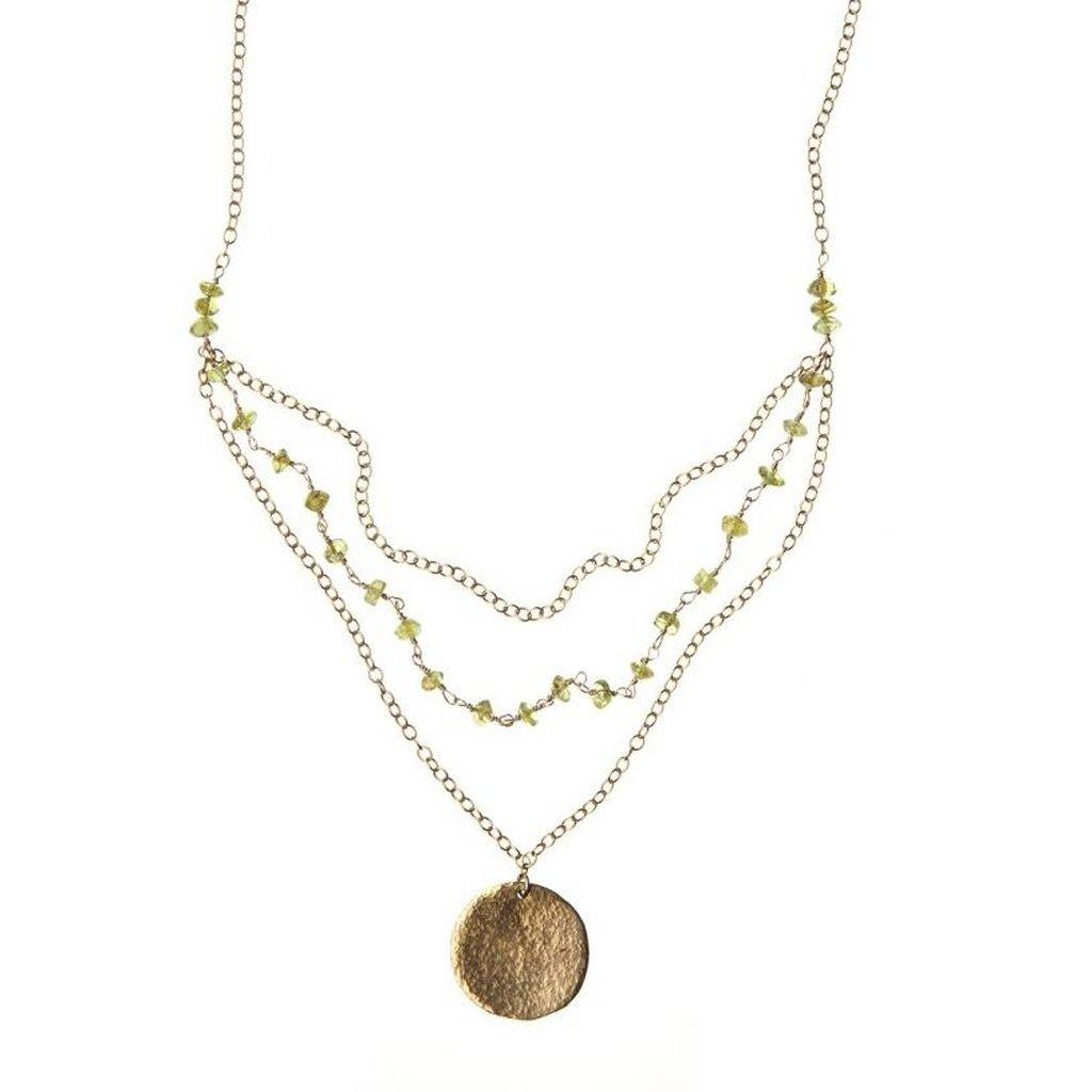 Triple Strand Peridot Necklace-Women - Jewelry - Necklaces-Look Love Lust