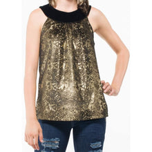 Load image into Gallery viewer, Women's Sleeveless Gold Top-Women - Apparel - Shirts - Sleeveless-Look Love Lust