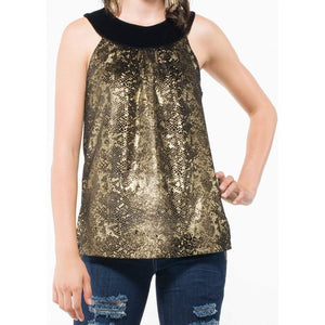 Women's Sleeveless Gold Top-Women - Apparel - Shirts - Sleeveless-Look Love Lust