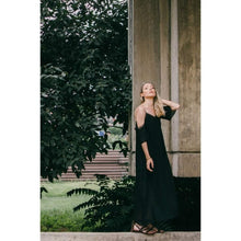Load image into Gallery viewer, Pleated Black Dress-Women - Apparel - Dresses - Maxi-Look Love Lust