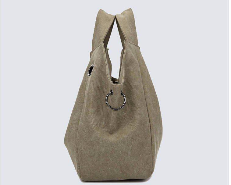 Canvas Shoulder Bag - Handbags -  Look Love Lust