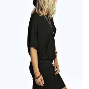 Stretch T-Shirt Dress-Casual Dresses-Look Love Lust