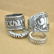 Load image into Gallery viewer, Vintage Punk Ring Set-Rings-Look Love Lust
