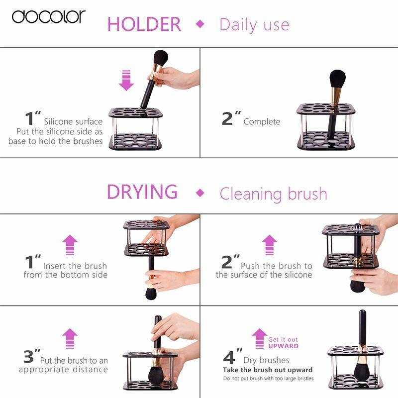 Docolor Makeup Brush Drying Organizer Holder - Makeup Tools -  Look Love Lust
