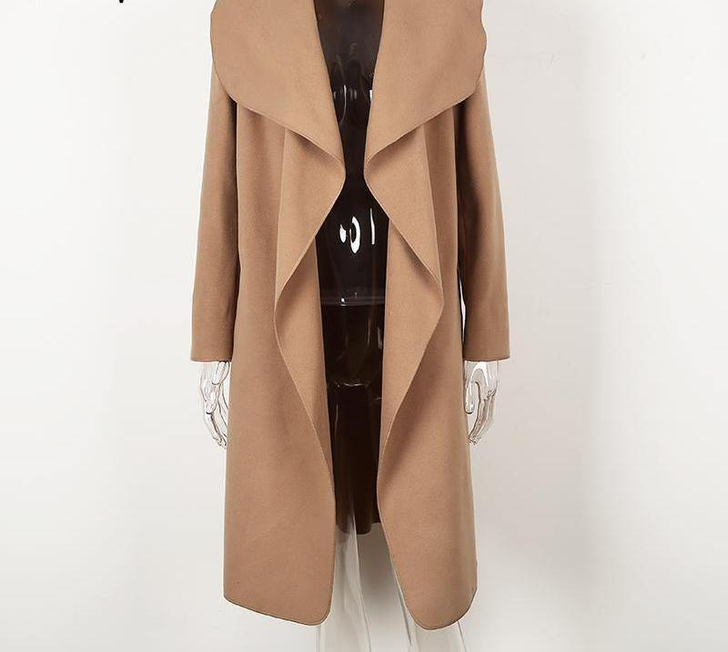 Winter Ruffle Collar Long Overcoat-Outerwear-Look Love Lust