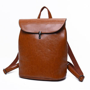 Vintage Leather PU Backpack-Backpacks-Look Love Lust