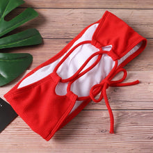 Load image into Gallery viewer, Sexy Solid Color Strapless High Waist Bikini-Bikini-Look Love Lust