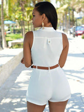 Load image into Gallery viewer, Sleeveless Belted Romper Jumpsuits-Shorts-Look Love Lust