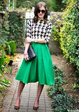 Load image into Gallery viewer, Casual Flare High Waist Pleated Pockets Vintage Midi Skirt-Skirts-Look Love Lust