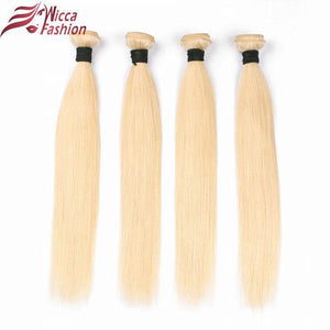 Dream Beauty Brazilian Straight Hair Bundles Weave 1 PC Blonde Full 613 Color Non Remy 100% Human Hair Extensions 10-28Inch-Look Love Lust