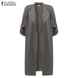 Thin Casual Lapel Cape Cardigan Coat-Outerwear-Look Love Lust