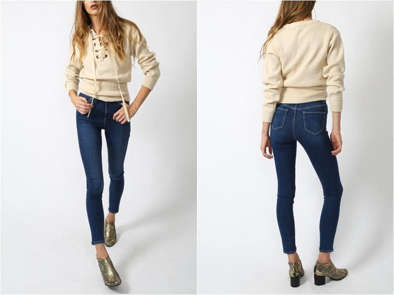 Lace Up Sweater-Sweaters-Look Love Lust