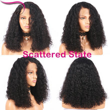 Load image into Gallery viewer, Brazilian Curly 360 Lace Frontal Wig Pre Plucked With Baby Hair 180% Density Short Human Hair Bob-Look Love Lust