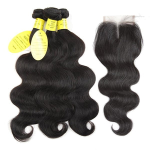 Brazilian Body Wave With Closure N-Look Love Lust