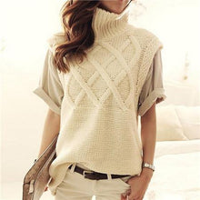 Load image into Gallery viewer, Sleeveless Cable Knit Turtleneck Vest-Outerwear-Look Love Lust