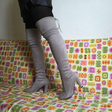 Load image into Gallery viewer, Stretch Faux Suede Slim Thigh High Over Knee Boots-Boots-Look Love Lust