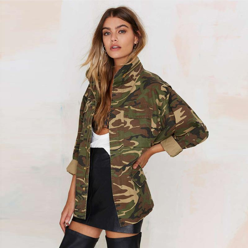 Army Green Camp Jacket-Outerwear-Look Love Lust