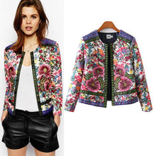 Load image into Gallery viewer, Retro Floral Embroidery Print Jacket-Outerwear-Look Love Lust