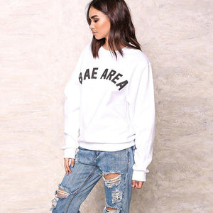 Bae Area Pullover Sweatshirt - Sweaters -  Look Love Lust