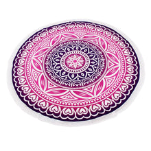 Load image into Gallery viewer, Multicolor Mandala Round Shawl 150cm-Beach Towels-Look Love Lust