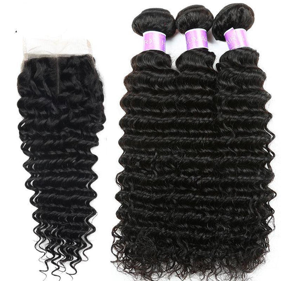 Brazilian Deep Wave Human Hair Bundles-Look Love Lust
