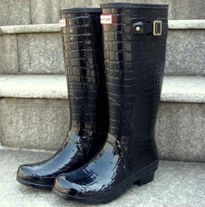 Waterproof Crocodile Pattern Rain Boots-Boots-Look Love Lust