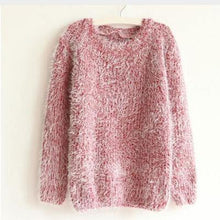 Load image into Gallery viewer, Mohair O-Neck Pullover Long Sleeve Loose Casual Sweater-Sweaters-Look Love Lust