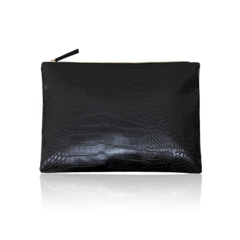 Crocodile Grain Women's Evening Clutch - Handbags -  Look Love Lust