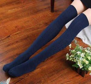 Thigh High Ribbed Knit Socks-Socks-Look Love Lust