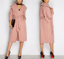 Load image into Gallery viewer, Winter Ruffle Collar Long Overcoat-Outerwear-Look Love Lust