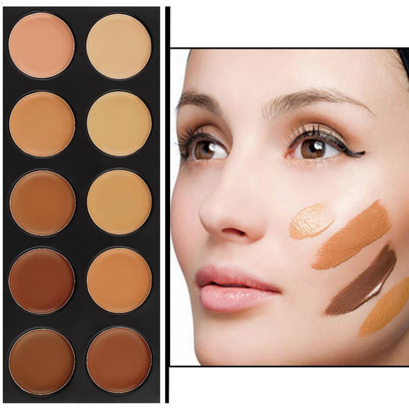 Professional 10 Color Concealer Contouring Kit-Makeup-Look Love Lust
