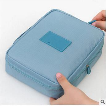 Multifunction Cosmetic Makeup Toiletry Travel Bags - blue cosmetic bag / China - Makeup Tools, www.looklovelust.com - 4