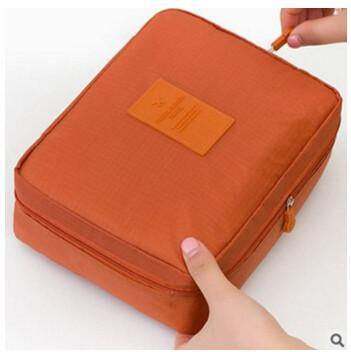 Multifunction Cosmetic Makeup Toiletry Travel Bags - orange cosmetic bag / China - Makeup Tools, www.looklovelust.com - 5