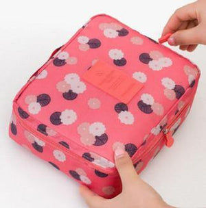 Multifunction Cosmetic Makeup Toiletry Travel Bags - pink flower / China - Makeup Tools, www.looklovelust.com - 3