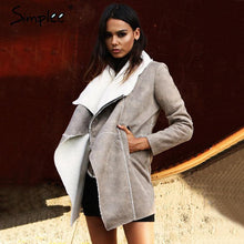 Load image into Gallery viewer, Suede Lambswool Coat-Jackets-Look Love Lust