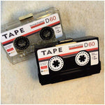 Vintage Cassette Tape Mini Clutch Bag with Chain Link Shoulder Strap-Handbags-Look Love Lust