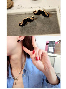 Vintage Moustache Stud Earrings-Earrings-Look Love Lust
