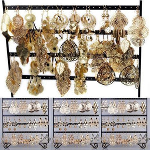 Bulk Gold Tone Fashion Earring Jewelry Sets (12 Pairs) - Jewelry -  Look Love Lust