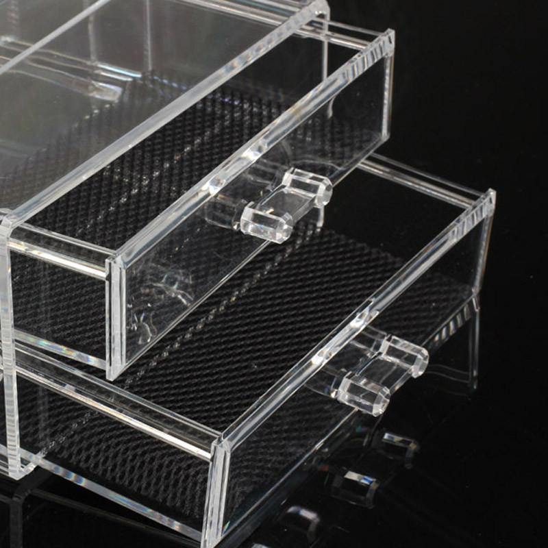 Acrylic Cosmetic Organizer Drawer Makeup Case Storage Insert Holder Box-Makeup Tools-Look Love Lust